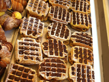 Waffles made by Rome's professional chef.